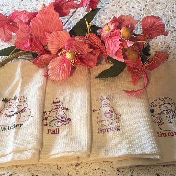 Lillian Vernon Kitchen New Lillian Vernon Four Seasons Dish Towels Poshmark
